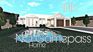 ROBLOX Bloxburg | NO GAMEPASS family home : 114k Bloxburg speed build & tour