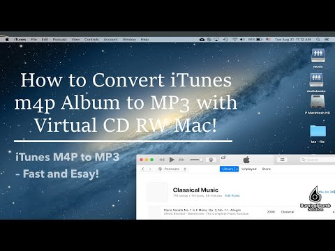 Virtual CD RW: How to Convert iTunes m4p Album to MP3 using Virtual CD