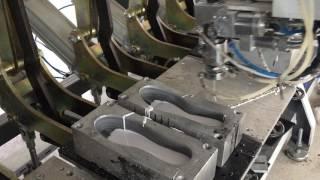 HGM MAKİNA 24 istasyon çift döküm çalkalamalı full otomatik terlik taban makinası