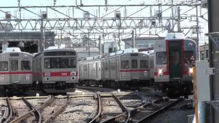 2014/5/11 雪が谷検車区にいた東急の旧型車両たち 7910F他