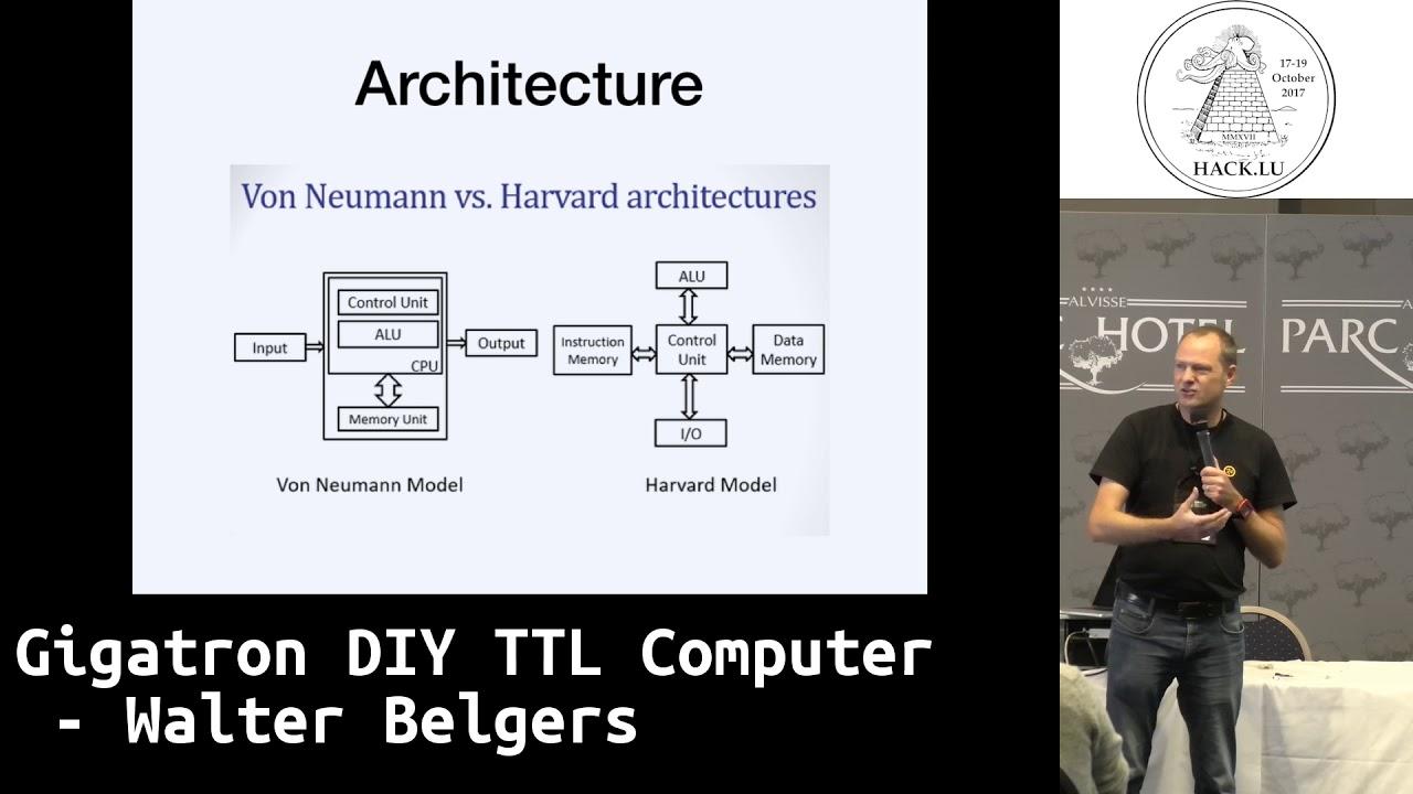 hack lu 2017 lightning talk gigatron diy ttl computer by walker belgers [ 1280 x 720 Pixel ]