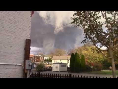 Storm clouds in Orange, Virginia