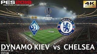 PES 2019 (PC) Dynamo Kiev vs Chelsea | UEFA EUROPA LEAGUE ROUND OF 16 | 14/3/2019 | 4K 60FPS
