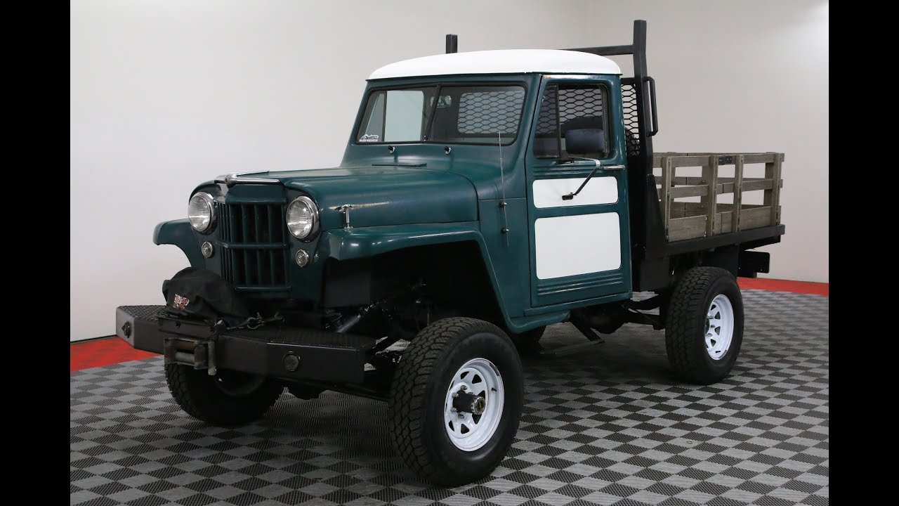 1954 Jeep Willys Youtube 1950 Pick Up