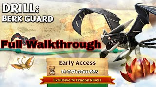 DRILL:BERK GUARD Full Walkthrough - New Gauntlet Event - Dragons:Rise of Berk