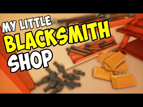 Organizing the Shop! Let's Play My Little Blacksmith Shop Gameplay