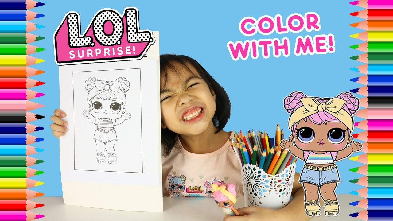 Coloring Lol Surprise Dolls Dawn Coloring Page Color Lol Dolls Color With Patty Youtube