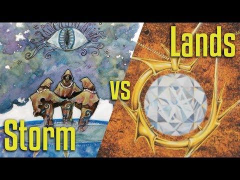 Brainstorm MTG | Legacy Magic: The Gathering | Storm VS Lands