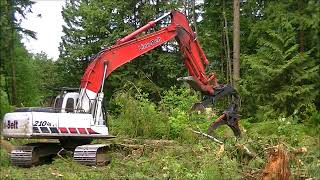 Link Belt 210 LX Excavator  with grapple