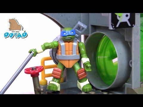 Черепашки Ниндзя Мультик TMNT Turtle Sewer Lair Логово в Канализации Игрушки для Мальчиков