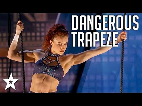Married Duo Performs DANGEROUS Trapeze Act on America's Got Talent | Got Talent Global