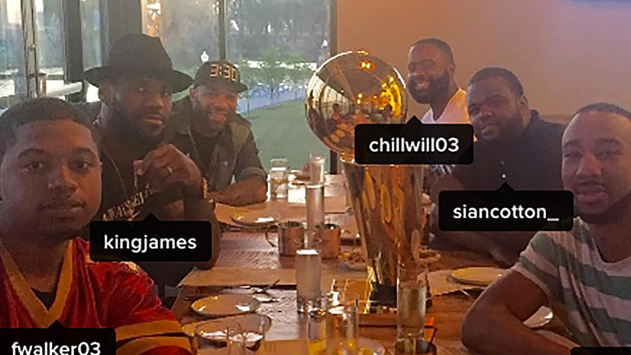 LeBron James Takes Championship Trophy To Oyster Bar Wont Let It Go