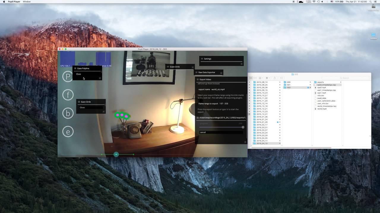 Pupil Player v0 7 - Basic Workflow Walkthrough