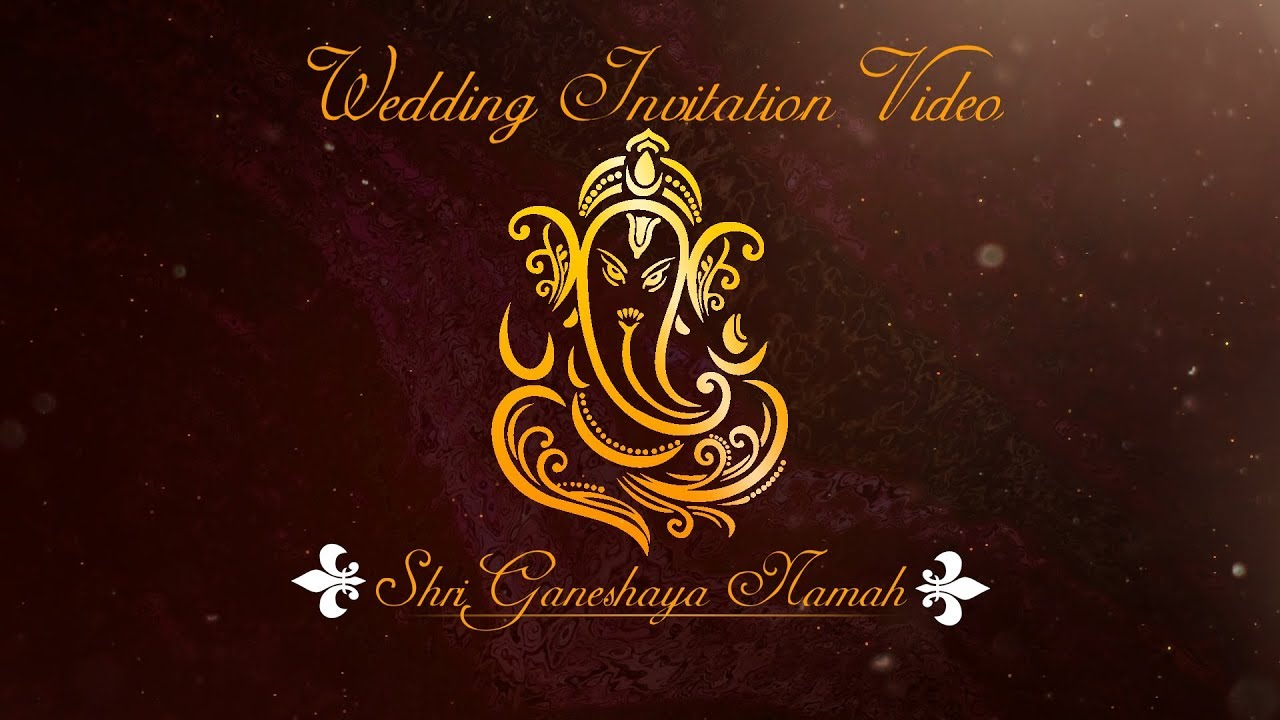 Digital Indian Wedding Invitation Video Free Blank Template Download 2019 Youtube