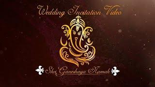 digital indian wedding invitation video free blank template download 2019