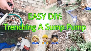 How To Trench a Sump Pump | Easy DIY | Home Improvement Projects