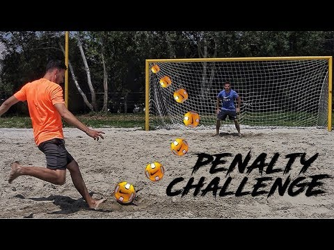 BEACH SOCCER PENALTY CHALLENGE!
