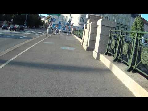 Fahrradfahrt vom ersten Bezirk in Wien nach Hietzing