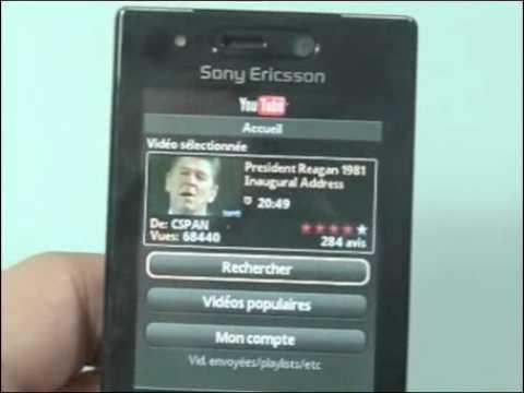 Sony-Ericsson G705 - Démonstration, prise en main et test