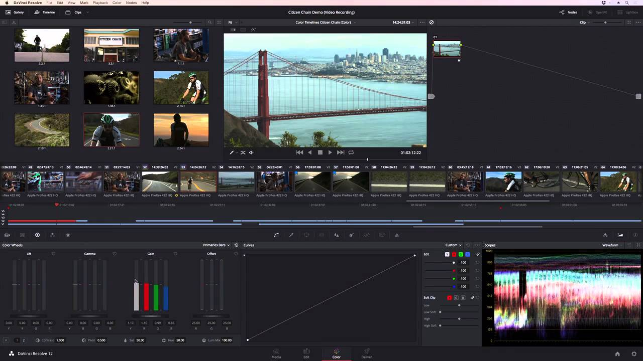 Blackmagic Design Davinci Resolve 12 Color Correction Youtube