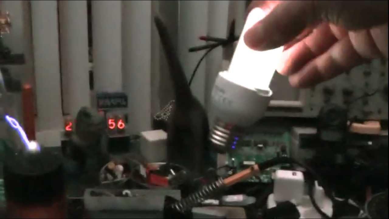Spark Gap Tesla Coil Wireless Electricity Powers Light Bulb Hd 1080p