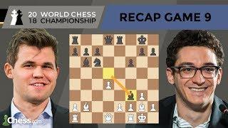 Carlsen vs Caruana (Game 9 Analysis)   World Chess Championship 2018