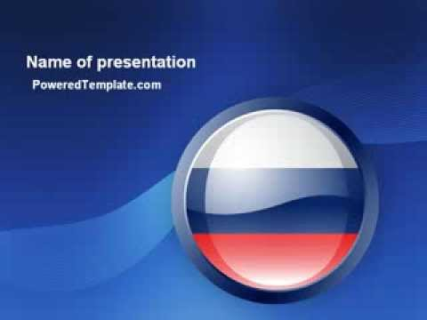 Russian Flag Powerpoint Template By Poweredtemplate Youtube