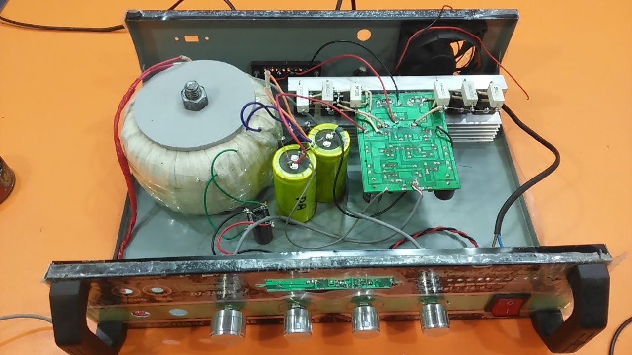 How to make an amplifier 500 Watts using 2SC5200 and 2SA1943? how to make  amplifier? electronics