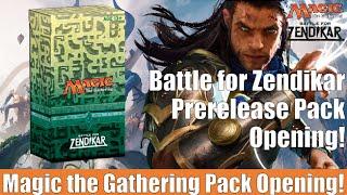 MTG Battle for Zendikar Prerelease Pack Opening! Magic the Gathering!