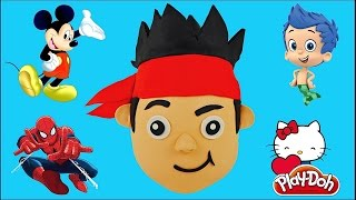 HUGE JAKE AND THE NEVERLAND PIRATES Play Doh Surprise Egg Spiderman Minecraft Bubble Guppies Mickey