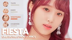IZ*ONE - FIESTA (Line Distribution + Lyrics)