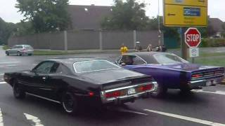 '73 Dodge Charger & '69 Dodge Coronet taking off