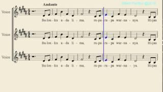 Notasi Lagu | Balonku Ada Lima (5)  – Not Balok Lagu Anak Indonesia