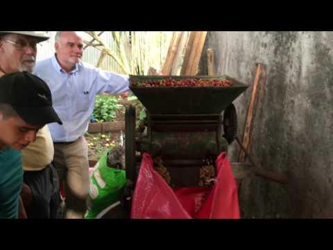 Honduras 2016 306 coffee processing with machine