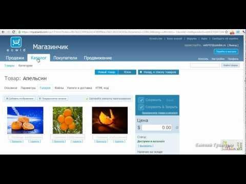 Бесплатное создание интернет магазина c ecwid.ru (часть 1)
