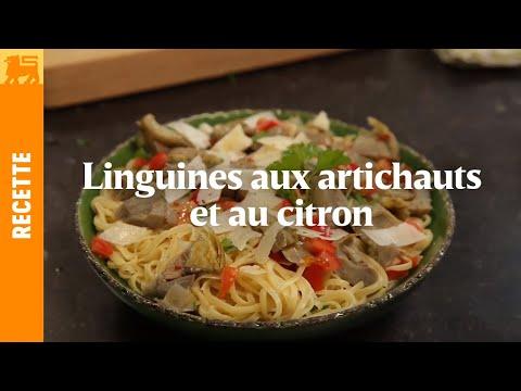 Linguines aux artichauts et au citron