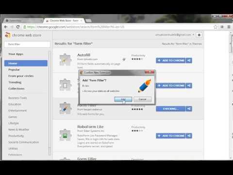 Form Filler Add-on For Chrome