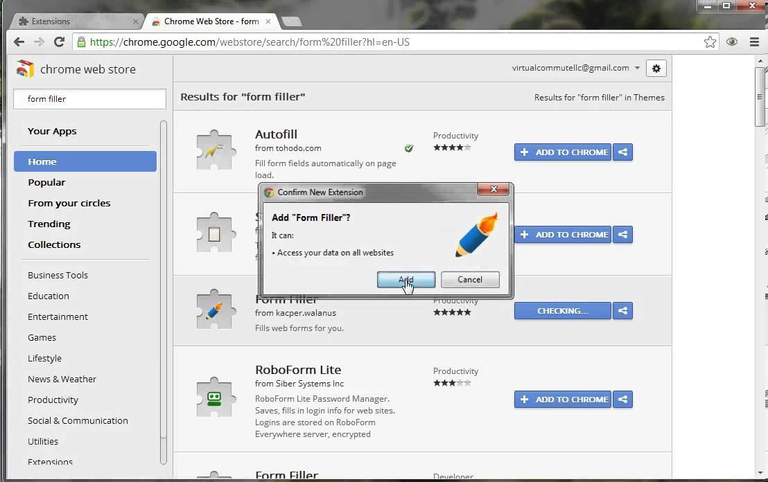 Form Filler add-on for Chrome - YouTube