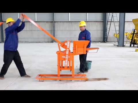 1-40 manual mud brick making machine