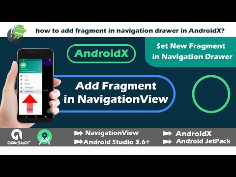 Add Fragment In Navigation Drawer In AndroidX Studio   Android Studio 3.6+   NavigationView   2020