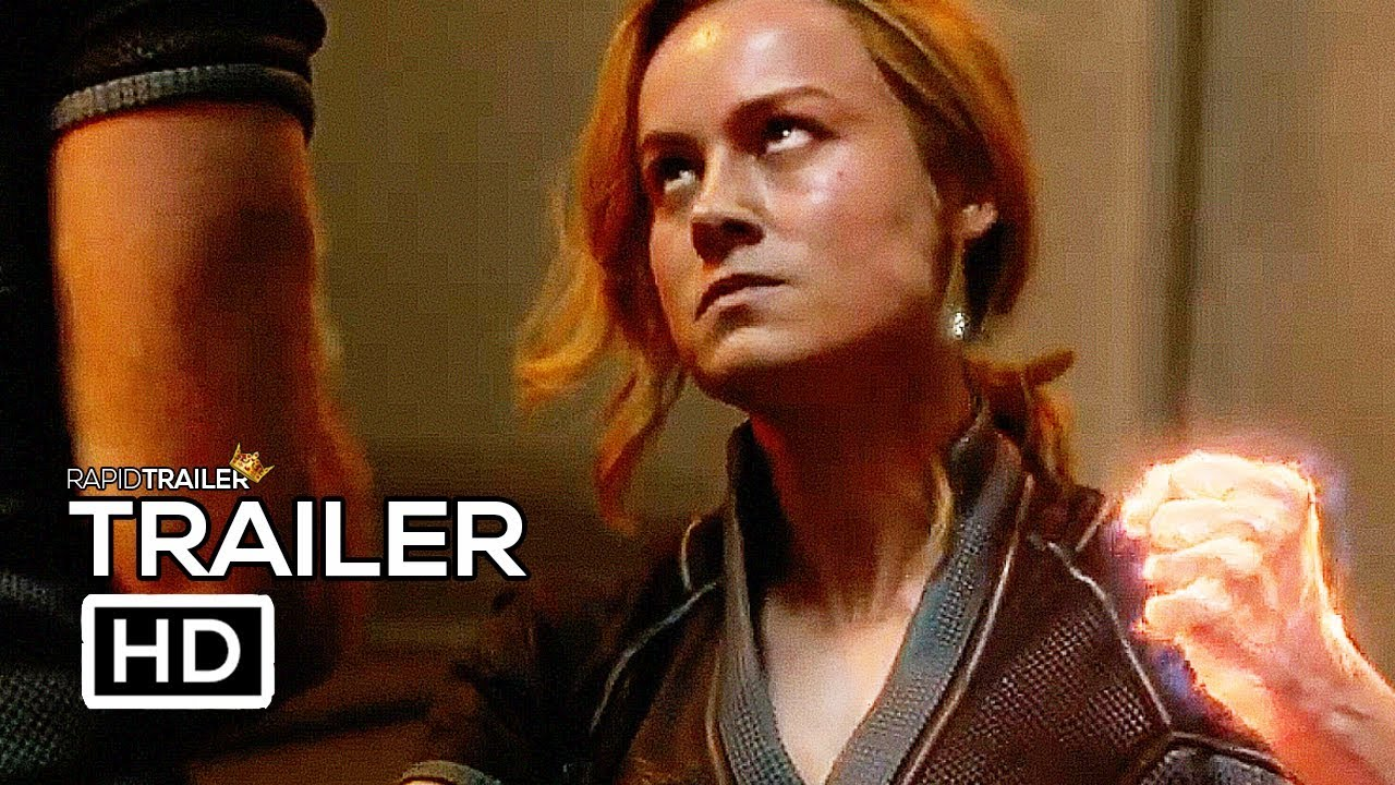 Captain Marvel Final Trailer 2019 Brie Larson Marvel Superhero Movie Hd