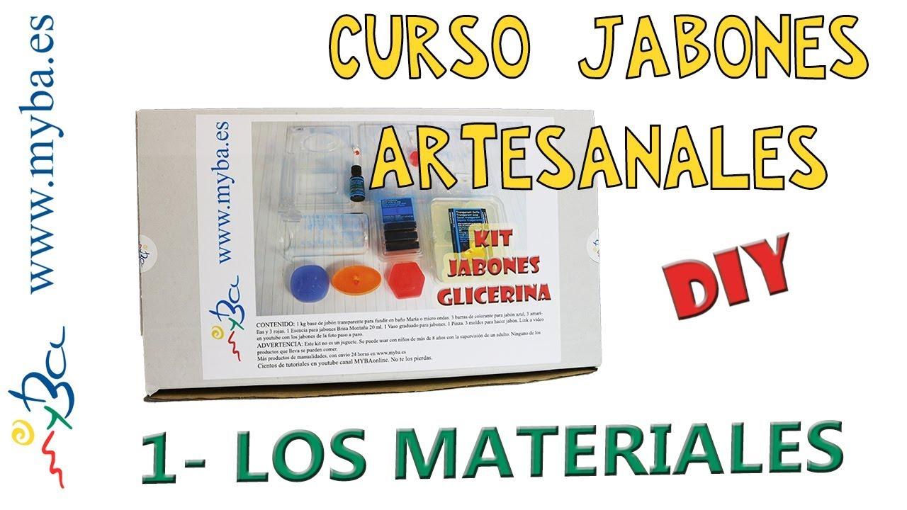 Curso De Jabones Artesanales 1 Materiales Para Hacer Jabón Diy Kit Youtube