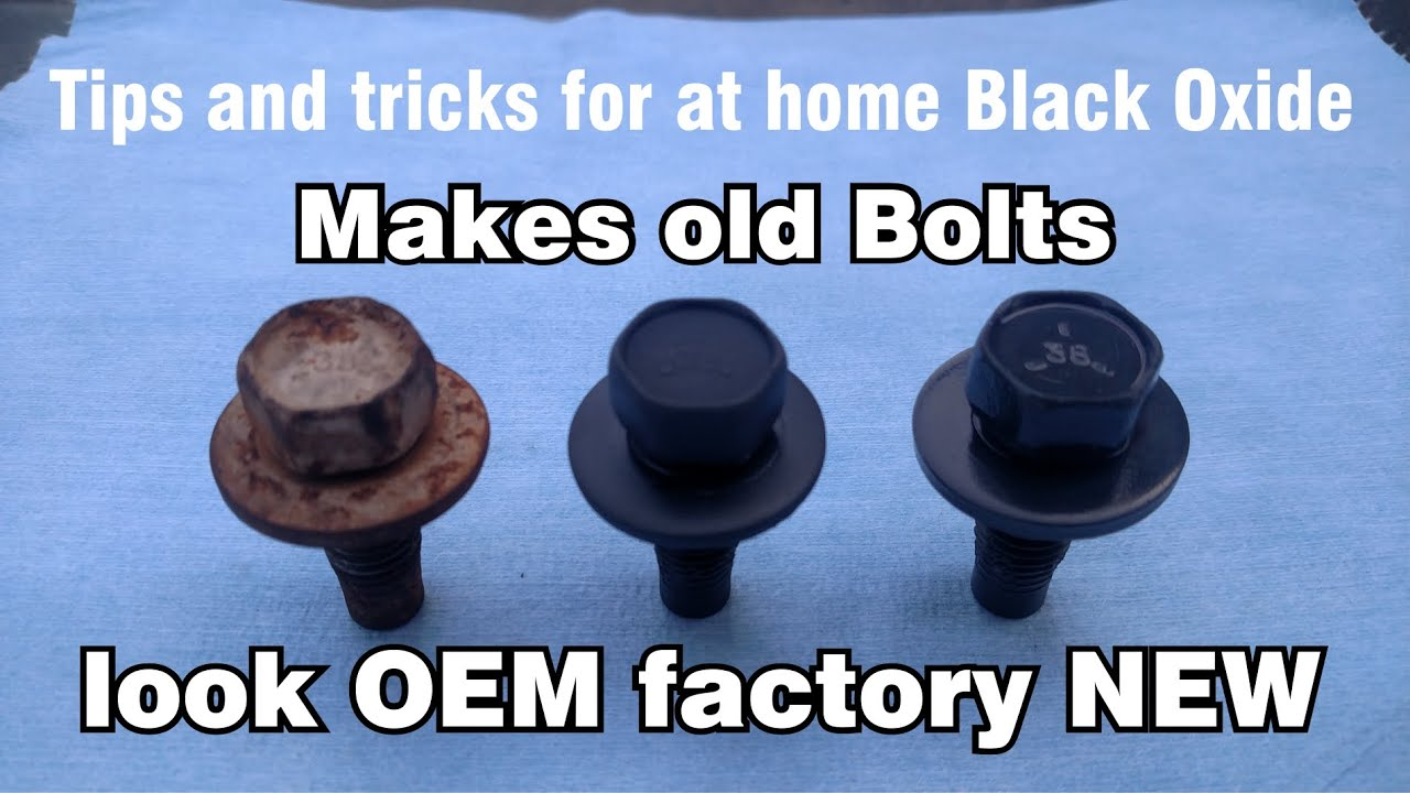 Pictures Of Nuts And Bolts >> DIY at home original Black Oxide Phosphate OEM Restoration of nuts & bolts - YouTube
