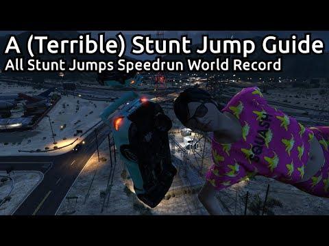 GTA V All Stunt Jumps (Terrible) Guide - Speedrun World Record - 33:21