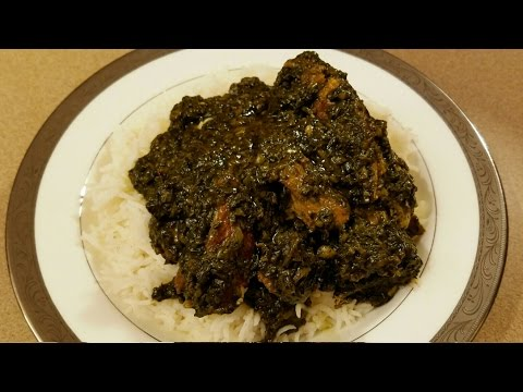 Liberian Fried Potato Greens