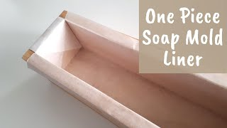 How to make a folded soap mould liner with non-stick baking paper