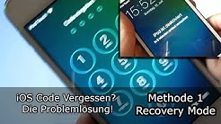iOS Code Vergessen? Die Problemlösung! iOS 7 - 13.x (2020) (Methode 1: Recovery Mode)