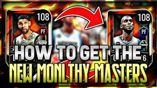 HOW TO GET NEW 108 OVR KEVIN GARNETT AND TIM DUNCAN MONTHLY MASTERS FOR FREE IN NBA LIVE MOBILE 20