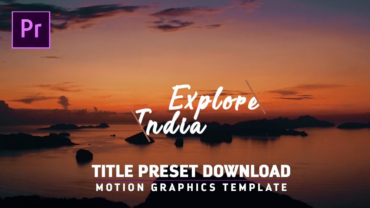 free titles intros preset for premiere pro cc motion graphic template