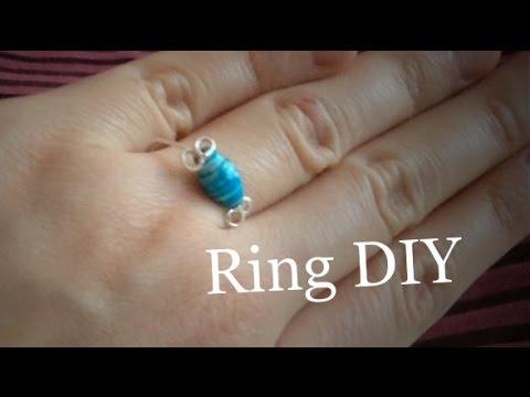 Diy Ring Aus Draht Und Perlen Lifeiscreation Youtube